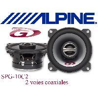 Kit Coaxiaux 2 voies SPG-10C2 - 2 Haut-Parleurs Coaxiaux 2 voies - 10cm - 40W RMS - Type G
