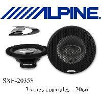 Kit Coaxiaux 3 voies et plus SXE-2035S - 2 Haut-Parleurs Coaxiaux Specifiques 3 voies - 20cm - 45W RMS - Serie Custom Fit