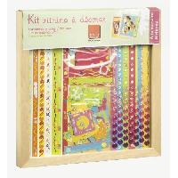 Kit De Decoration - Pack De Decoration Kit vitrine a decorer anniversaire 30 x 30 cm
