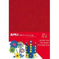 Kit De Dessin APLI Pochette 4 feuilles mousse caoutchouc - effet serviette couleurs assorties