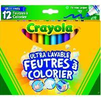 Kit De Dessin CRAYOLA 12 Feutres de Coloriage Ultra Lavables