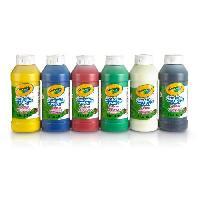 Kit De Dessin Crayola - 6 Bouteilles de peinture lavable - Peinture et accessoires