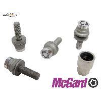 Kit De Visserie 4 vis - 12x125 - L35.3 - H19 - Plat - Chrome - Antivol de Roues McGard