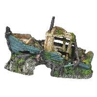Kit Decoration De L'habitat NOBBY Aqua déco Vieille épave - 203x102x127mm - Pour aquarium