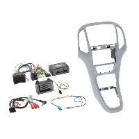 Kit D'installation D'autoradio Kit installation autoradio 2DIN pour Opel Astra J ap09 - Argent platine Generique