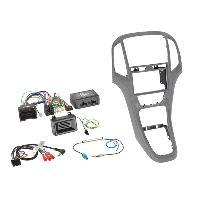 Kit D'installation D'autoradio Kit installation autoradio 2DIN pour Opel Astra ap09 - Gris aluminium Generique