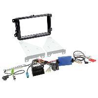 Kit D'installation D'autoradio Kit installation autoradio support 2DIN + Adaptateur antenne pour VW Seat Skoda ap03