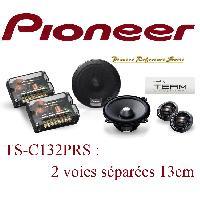 Kit Eclates 2 voies TS-C132PRS - 2 Haut Parleurs 2 voies Separees HiFi - 13cm - 30W RMS - Pioneer Reference Serie