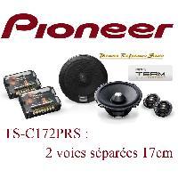 Kit Eclates 2 voies TS-C172PRS - 2 Haut Parleurs 2 voies Separees HiFi - 17cm - 50W RMS - Pioneer Reference Serie