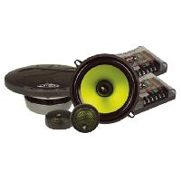 Kit Eclates 3 voies CVC5 - Kit eclate bassesmoyennes tweeter 25mm - 10cm - 175W Max - Serie Venom