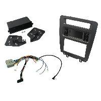 Kit Facade et Faisceau ISO Kit Adaptateur Autoradio 1Din ou 2DIN compatible avec Ford Mustang 10-14 sans nav + ISO avec vide-poche - KITFACMUS1