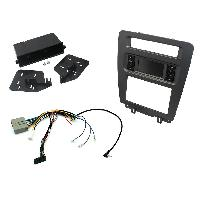 Kit Facade et Faisceau ISO Kit Adaptateur Autoradio 1Din ou 2DIN pour Ford Mustang 10-14 sans nav + ISO avec vide-poche - KITFACMUS1 ADNAuto