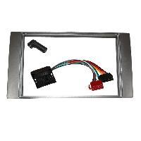 Kit Facade et Faisceau ISO Kit Installation Autoradio Eco KFAC153D pour Ford Focus CMax Fiesta SMax ap05 - Argent