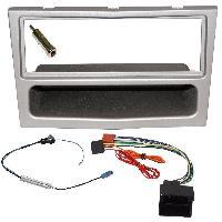 Kit Facade et Faisceau ISO Kit Installation Autoradio KITFAC-152C compatible avec Opel - Argent