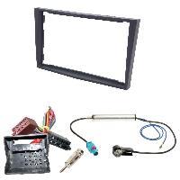 Kit Facade et Faisceau ISO Kit Installation Autoradio KITFAC-152F1 compatible avec Opel - Gris Fonce