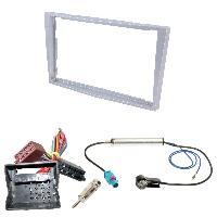 Kit Facade et Faisceau ISO Kit Installation Autoradio KITFAC-152F2 compatible avec Opel - Argent