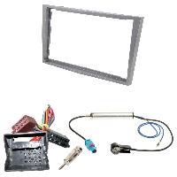 Kit Facade et Faisceau ISO Kit Installation Autoradio KITFAC-152F4 compatible avec Opel - Argent Mat