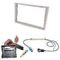 Kit Facade et Faisceau ISO Kit Installation Autoradio KITFAC-152F compatible avec Opel - Beige