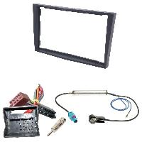 Kit Facade et Faisceau ISO Kit Installation Autoradio KITFAC-152H compatible avec Opel - Noir