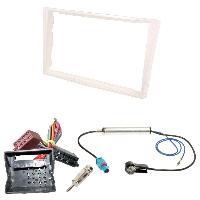 Kit Facade et Faisceau ISO Kit Installation Autoradio KITFAC-152Z compatible avec Opel - Blanc perle