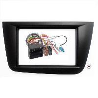 Kit Facade et Faisceau ISO Kit Installation Autoradio KITFAC-158F compatible avec Seat Altea - Noir