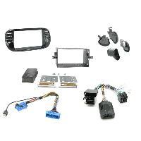 Kit Facade et Faisceau ISO Kit Installation Autoradio KITFAC-ZFT2 pour Fiat 500 - Noir brillant ADNAuto