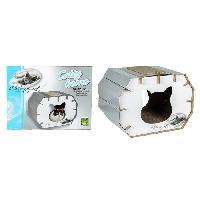 Kit Habitat - Couchage RIGA Catty Home I LOVE MY CAT Couchage chat - 50 x 37 x 35 cm