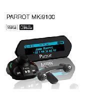 Kit Main libre Auto MKi9100 - Kit Mains Libres Bluetooth - Compatible iPhone iPod USB - Ecran de controle OLED Parrot