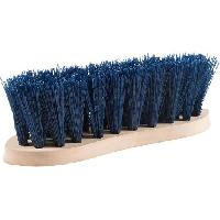Kit Materiel De Toilettage - Pansage Brosse dure avec dos en bois pour chevaux - 8 cm - Bleu