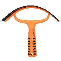 Kit Materiel De Toilettage - Pansage Couteau de chaleur Grip - Orange neon - L 20 x l 22 cm
