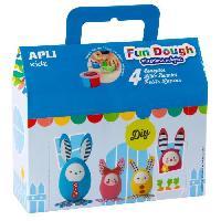 Kit Modelisme A Construire Boite de 4 petits lapins en pate Fun Dough