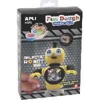 Kit Modelisme A Construire Galactic robot jaune en pate Fun Dough