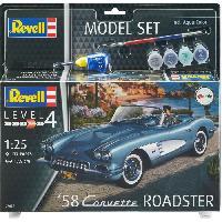 Kit Modelisme A Construire REVELL Maquette Model set Voitures 58 Corvette Roadster 67037