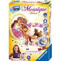 Kit Mosaique C'EST MOI QUI CREE Mosaique Mini Horses - Atelier Jeu de Creation