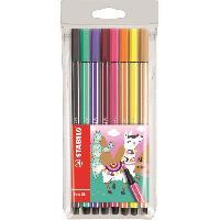Kit Pour Calligraphie STABILO 8 feutres de dessin Pen 68 Living colors - Décor Lama