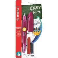 Kit Pour Calligraphie STABILO Stylo-plume EASYbirdy et 1 clé de réglage - Rose et rose foncée