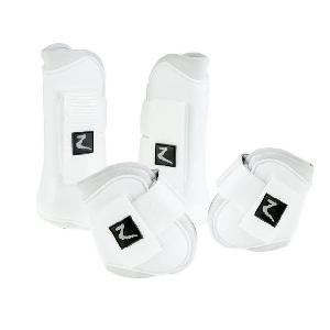 Kit Securite - Protection Ensemble complet de guetres pour chevaux. taille Cob. blanc