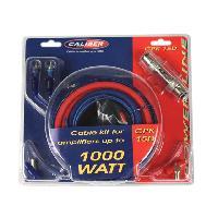 Kit de cables CPK15D - Kit de cablage 15mm2 pour amplificateur 1000W Caliber