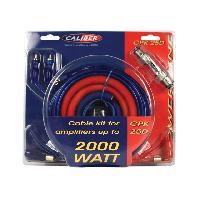 Kit de cables CPK25D - Kit de cablage 25mm2 pour amplificateur 2000W - Caliber
