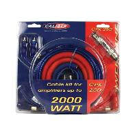 Kit de cables CPK25D - Kit de cablage 25mm2 pour amplificateur 2000W Caliber