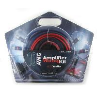 Kit de cables KIT CABLE RCA + CABLE ALIM 6MM2 + PORTE FUSIBLE + FUSIBLE + 4 COSSES - ADNAuto