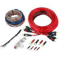 Kit de cables Kit compatible avec amplificateur 60A Alim 10mm2 audio 2x1.5mm2