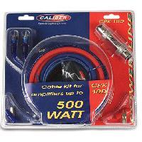 Kit de cables Kit de cablage 10mm2 pour amplificateur superieur 500W - CPK-10D - Caliber