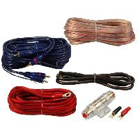 Kit de cables Kit pour amplificateur 40A Alim 10mm2 + Audio 2x1.5mm2