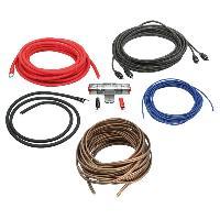 Kit de cables Kit pour amplificateur 40A Alim 10mm2 + Audio 2x1.5mm2 - ADNAuto