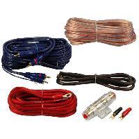 Kit de cables Kit pour amplificateur 40A Alim 10mm2 + Audio 2x1.5mm2 ADNAuto