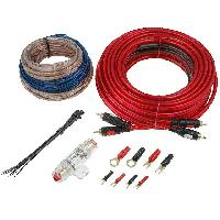 Kit de cables Kit pour amplificateur 40A Alim 8mm2 + Audio 2x1.5mm2