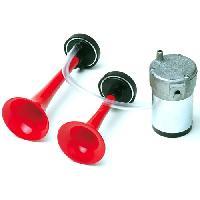 Klaxons Jeu de Trompes - Compresseur Metalliques - 15Amp - 12V - ADNAuto