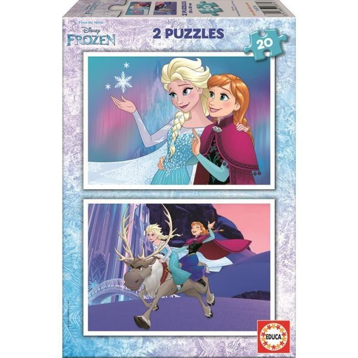 LA-REINE-DES-NEIGES-Puzzle-2-x-20-Pieces-Educa