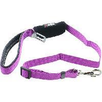 Laisse - Sangle - Accouple I DOG Laisse Confort - L 100 cm - Violet et gris - Pour chien